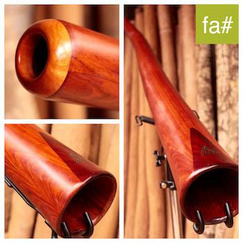 Photo du didgeridoo en fa# modèle dit trompette