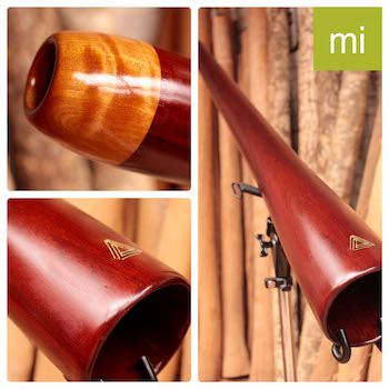Photo du didgeridoo signature en Mi de Gauthier Aubé