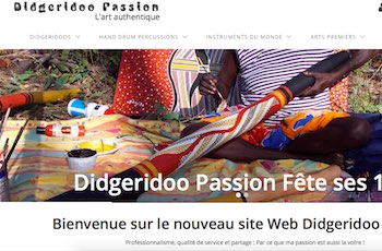 Capture ecran du site didgeridoo-passion.com