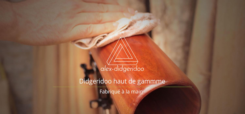 Photo d'un alex didgeridoo, didgeridoo haut de gamme, fabriqué à la main